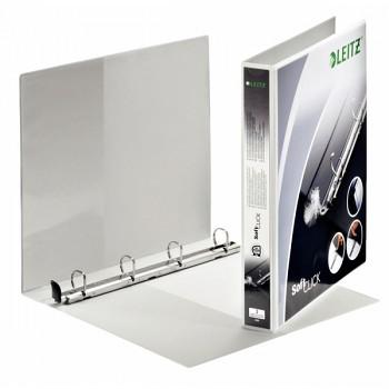 Prezentační kroužkový pořadač Leitz SoftClick Bílá, 4 D-kroužky,20 mm