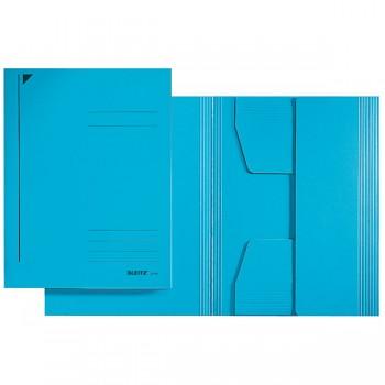 Kartonové desky se 3 chlopněmi bez gumiček Leitz,A4 modrá DOPRODEJ!