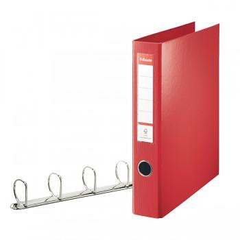Kroužkový pořadač Esselte VIVIDA, celoplastový A4 maxi Červená