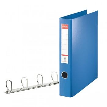 Kroužkový pořadač Esselte VIVIDA, celoplastový A4 maxi Modrá