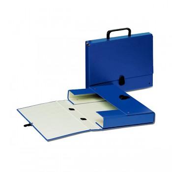 Kartonová aktovka s držadlem Esselte Tmavě modrá