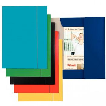Lesklé kartonové desky se 3 chlopněmi a svislou gumičkou Světle modrá