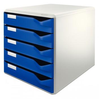 Zásuvkový box Leitz Modrá