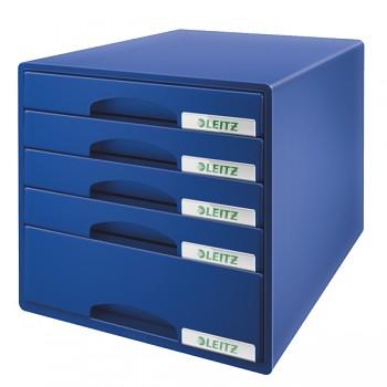 Zásuvkový box Leitz Plus 5 zásuvek Modrá