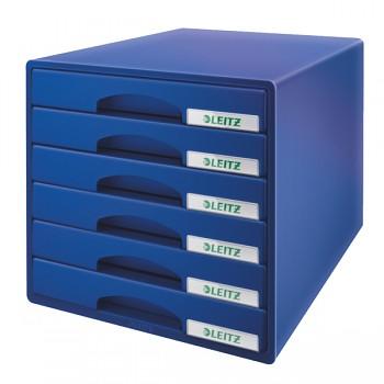 Zásuvkový box Leitz Plus 6 zásuvek Modrá