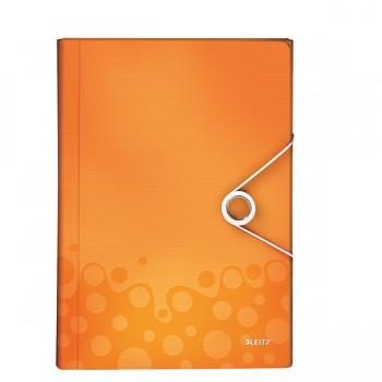 Aktovka na spisy s přihrádkami Leitz WOW Metalická oranžová DOPRODEJ!!!