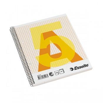 Bloky A5 Esselte boční spirála čtvereček 70 listů