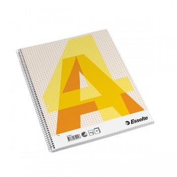 Bloky A4 Esselte boční spirála čtvereček 70 listů