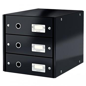 Zásuvkový box Leitz Click & Store se 3 zásuvkami Černá