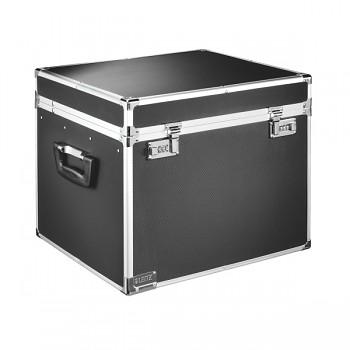 Velký uzamykatelný archivační box Leitz Chromová/Černá