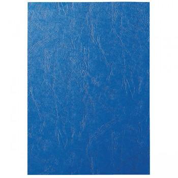 Desky pro kroužkovou vazbu, imitace kůže Modrá