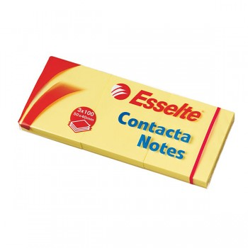 Samolepicí bločky Contacta Notes Žlutá