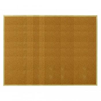 Korková tabule s dřevěným rámem Přírodní hnědá