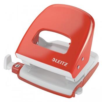Celokovová stolní děrovačka Leitz NeXXt 5008 Světle červená