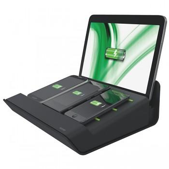 Multifunkční nabíječka XL Leitz Complete pro 1 tablet a 3 chytré telefony Černá