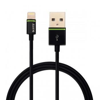 Lightning na USB kabel Leitz Complete, 30 cm Černá