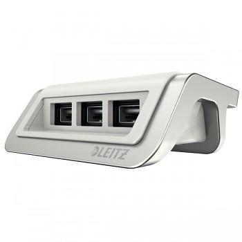 USB nabíječka Leitz Style s 3 porty Arkticky bílá