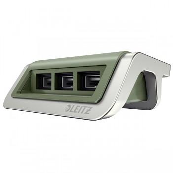 USB nabíječka Leitz Style s 3 porty Zelenkavá