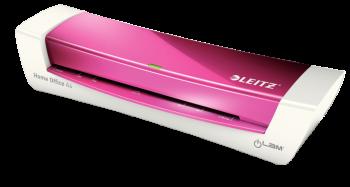 Teplý laminátor Leitz iLAM Home Office A4 metalická růžová