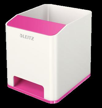 Hudební stojánek Leitz WOW růžovo-bílý