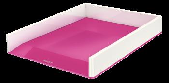 Dvoubarevný odkladač Leitz WOW růžovo-bílý