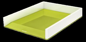 Dvoubarevný odkladač Leitz WOW zeleno-bílý