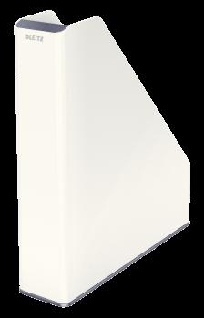 Dvoubarevný stojan na katalogy Leitz WOW šedo-bílý