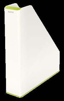 Dvoubarevný stojan na katalogy Leitz WOW zeleno-bílý