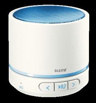 Přenosný mini Bluetooth reproduktor s mikrofonem Leitz WOW modro-bílý