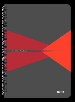 Blok na psaní Leitz OFFICE A4 laminované desky linka červená