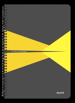 Blok na psaní Leitz OFFICE A4 laminované desky linka žlutá