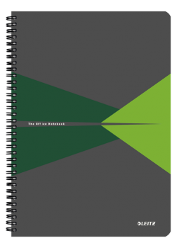 Blok na psaní Leitz OFFICE A4 PP desky  linka zelená