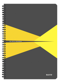 Blok na psaní Leitz OFFICE A4 PP desky  linka žlutá