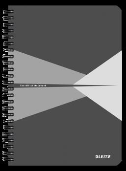 Blok na psaní Leitz OFFICE A5 laminované desky linka šedá