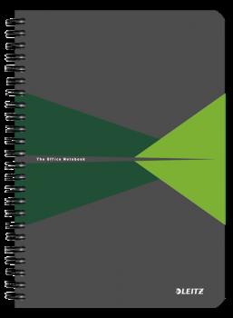 Blok na psaní Leitz OFFICE A5 laminované desky linka zelená