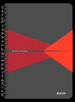 Blok na psaní Leitz OFFICE A5 laminované desky linka červená