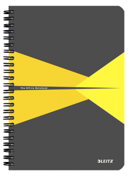 Blok na psaní Leitz OFFICE A5 laminované desky linka žlutá