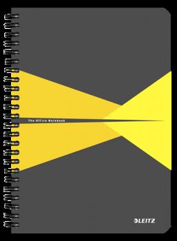Blok na psaní Leitz OFFICE A5 PP desky  linka žlutá