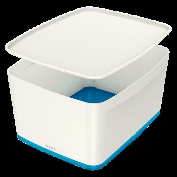 Úložný box s víkem Leitz MyBox®, velikost M modrý