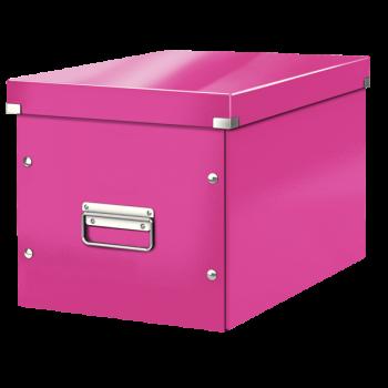 Čtvercová krabice Leitz Click&Store, velikost L (A4) Růžová