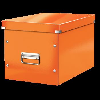 Čtvercová krabice Leitz Click&Store, velikost L (A4) Oranžová