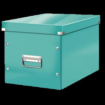 Čtvercová krabice Leitz Click&Store, velikost L (A4) Modrá