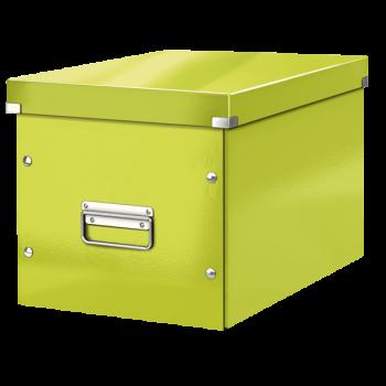 Čtvercová krabice Leitz Click&Store, velikost L (A4) Zelená