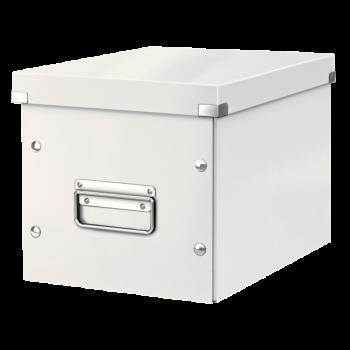Čtvercová krabice Leitz Click&Store, velikost M (A5) Bílá