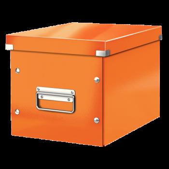 Čtvercová krabice Leitz Click&Store, velikost M (A5) Oranžová