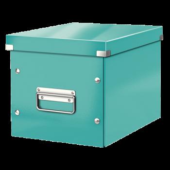 Čtvercová krabice Leitz Click&Store, velikost M (A5) Modrá