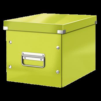 Čtvercová krabice Leitz Click&Store, velikost M (A5) Zelená