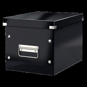 Čtvercová krabice Leitz Click&Store, velikost M (A5) Černá