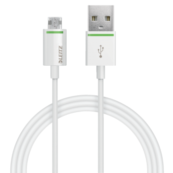 Kabel Leitz Complete s oboustranným Micro USB na USB, 1 m Bílá