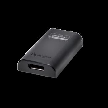 Adaptér videosignálu USB 3.0 na Display Port 4K Kensington VU4000D Černá